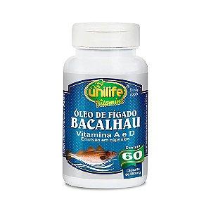 Óleo de Fígado de Bacalhau UNILIFE 350mg 60 Cápsulas Vegetais