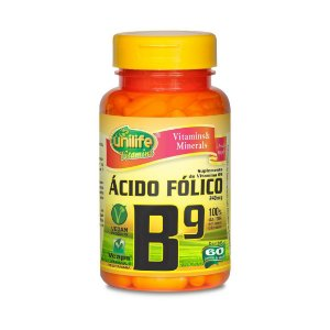 Vitamina B9 (Ácido Fólico) UNILIFE 240mcg 60 Cápsulas Vegetais