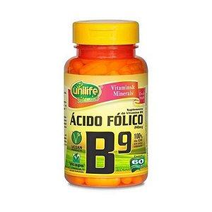 Vitamina B9 (Ácido Fólico)  240mcg 60 Cáps UNILIFE