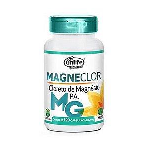 Magneclor Cloreto de Magnésio P.A UNILIFE 600mg 120 Cápsulas Vegetais