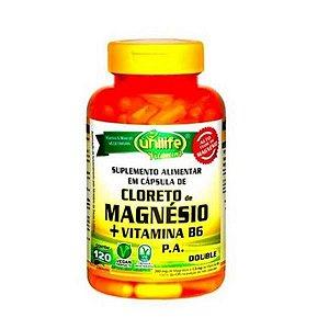 Cloreto de Magnésio P.A + Vitamina B6 UNILIFE 800mg 120 Cápsulas Vegetais