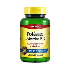 POTASSIO + VITAMINA B12 60 CAPS MAXINUTRI