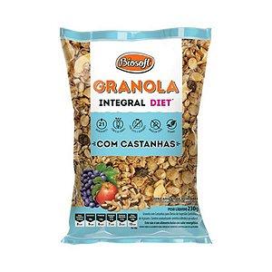 GRANOLA DIET C/ CASTANHA 230G BIOSOFT