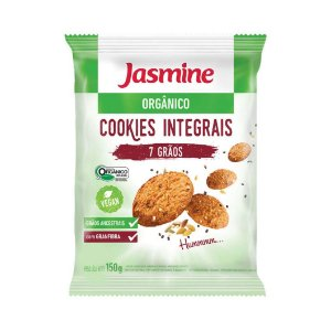 Cookies Integrais 7 Grãos Orgânico JASMINE Vegano 150g