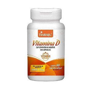 Vitamina D (Colecalciferol) TIARAJU 2000ui 60 Cápsulas