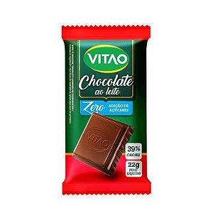CHOCOLATE AO LEITE ZERO ACUCAR 22G VITAO