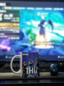 Caneca personalizada 1Hit Fortnite