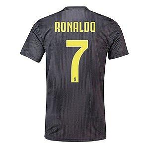 f4739ad09e Camisa Juventus Home Cristiano Ronaldo 7 com Patch - MERCADO SPORTS ...