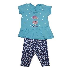 Conjunto Bebê Ciclista Wilbertex Azul