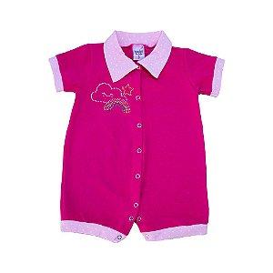 Macaquinho Bebê Strass Sonho do Bebê Pink