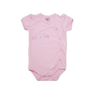 Body Bebê Coroa Sonho Do Bebê Rosa