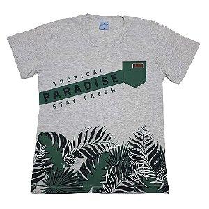 Camiseta Juvenil Paradise Wilbertex Mescla