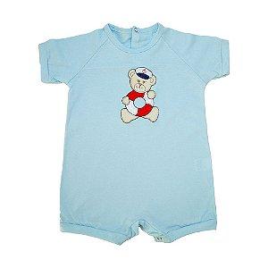 Macaquinho Bebê Urso Marinheiro Sonho Do Bebê Azul