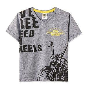 Camiseta Infantil/Juvenil Motocicleta Fantoni Mescla