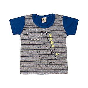 Camiseta Infantil Jacaré Kibs Kids Royal