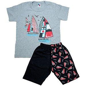 Conjunto Infantil Barcos Hdu Mescla