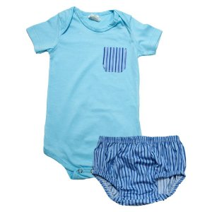 Body Bebê Com Tapa Fralda Sonho Do Bebê Azul