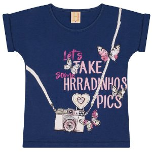 T-Shirt Infantil Photography Hrradinhos Marinho