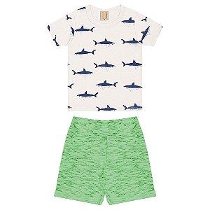 Conjunto Infantil Tubarões Hrradinhos Pérola