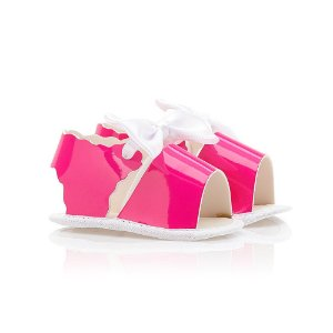 Sandália Bebê Verniz Baby Gut Rosa Neon