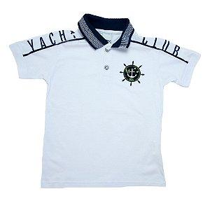 Camiseta Gola Polo Club Minore Branca