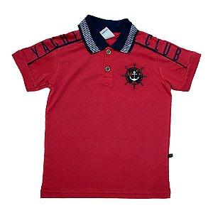 Camiseta Gola Polo Club Minore Vermelho