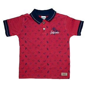 Camiseta Gola Polo Summer Minore Vermelho