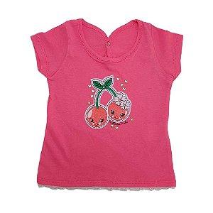 Blusa Bebê Cereja Wilbertex Rosa Choque