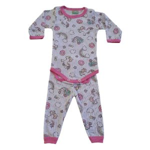 Conjunto Bebê Body Unicórnio Jeito Inocente Rosa