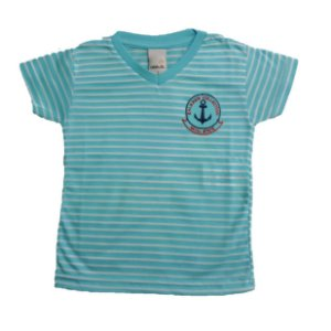 Camiseta Infantil Listras Ralakids Azul