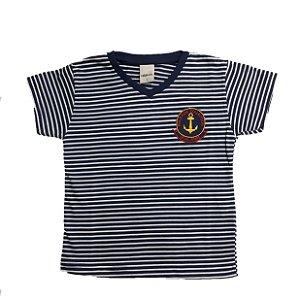 Camiseta Infantil Listras Ralakids Marinho