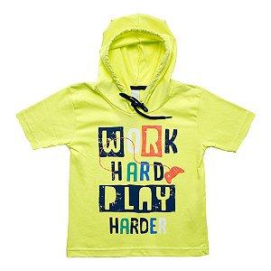 Camiseta Infantil Com Capuz Ralakids Amarelo