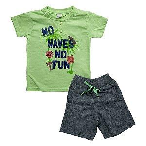 Conjunto Infantil No Waves Ralakids Verde