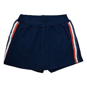 Shorts juvenil Listras Difusão Marinho