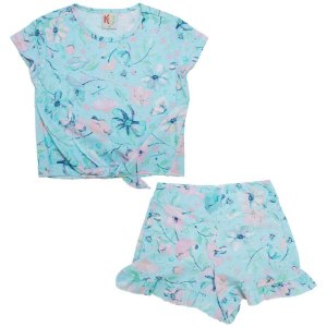 Conjunto Infantil Floral Kids Club Azul