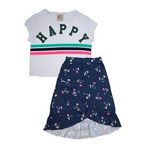 Conjunto Infantil Happy Kids Club Branco e Marinho