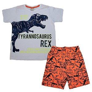 Conjunto Infantil T-Rex Kids Club Branco