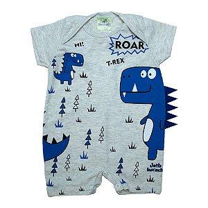 Macacão Bebê Dino Azul Jeito Inocente Mescla