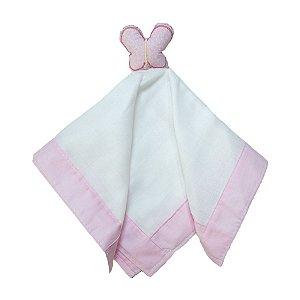 Naninha Bebê Borboleta Papi Toys Rosa