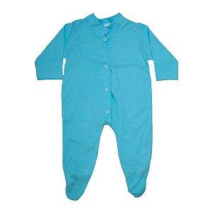 Macacão Bebê Com Pézinho G Kids Azul