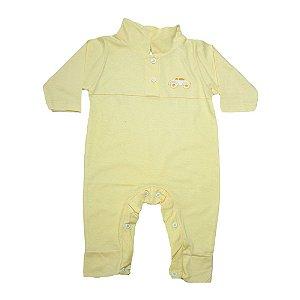 Macaquinho Bebê Com Aplique G Kids Amarelo