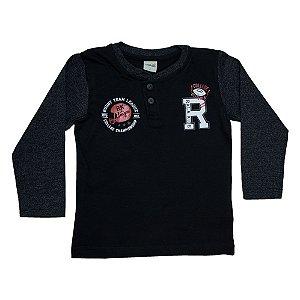 Camiseta Infantil Rugby Ralakids Preta