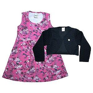 Conjunto Infantil Vestido Com Bolero Ralakids Rosa