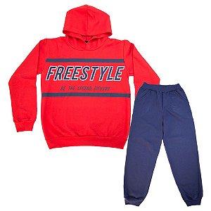 Conjunto Juvenil Freestyle Difusão Vermelho