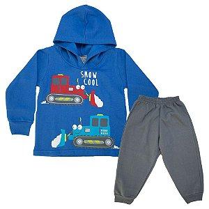 Conjunto Infantil Máquinas Kibs Kids Azul