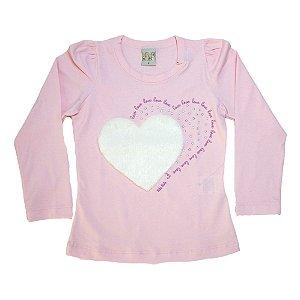 Blusa Infantil Love Kibs Kids Rosa