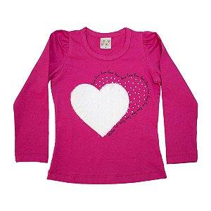 Blusa Infantil Love Kibs Kids Pink