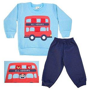 Conjunto Bebê All Aboard Kibs Kids Azul