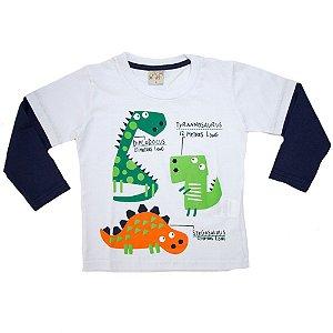 Camiseta Manga Longa Dinos Kibs Kids