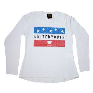 Blusa Juvenil United Youth Difusão Branca